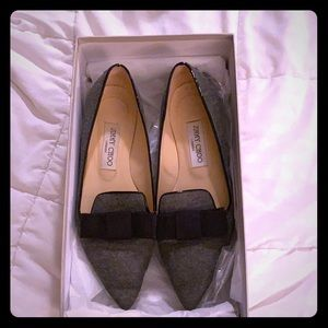 Jimmy Choo taupe grey shoes